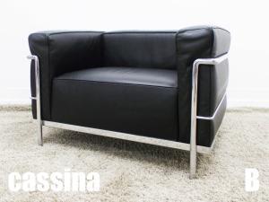 【展示品】cassina/カッシーナ コルビジェ LC3 1人掛け 本革 刻印あり ポリエステルパッディング