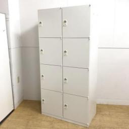 【フリーアドレスオフィス化におすすめ!】 2列4段で省スペース収納! 鍵を持たなくていいダイヤル開錠式!