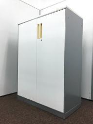【関西倉庫在庫】コクヨ ユニフレックス 両開き書庫 収納 ローキャビネット ホワイト