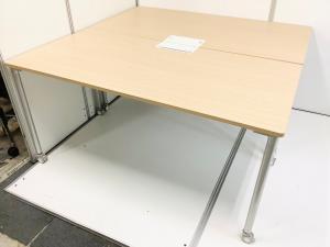 【2台セットでワークテーブルに!】イトーキ(ITOKI)アクティブフィールド 片面ワークテーブル(平机) ■色:ナチュラル 幅1500㎜