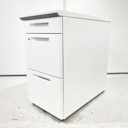 【机の横に置ける便利な収納】コクヨ iS  ホワイト 3段脇机 収納 デスク オフィス ワゴン