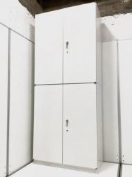 【4セットロット入荷】イトーキ シンライン 上下書庫セット 両開き ホワイト 収納
