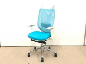 新品の可動肘がついてます!椅子につけられる機能は全部ついている高級椅子!座面のクッションが最高です!【肘新品!】