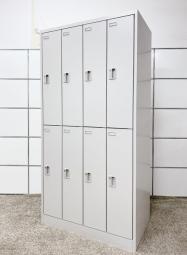 人気の2段タイプの8人用ロッカーを入荷!省スペースで8名様分収納可能!■オカムラ■FZ (FZ Locker 更衣室