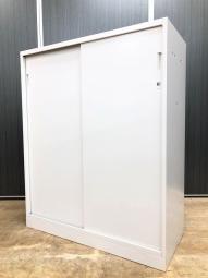 【省スペースに使える!】■イトーキ製 引戸書庫 D400mmタイプ ホワイト