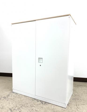 【6台入荷】状態良好オフィス必須アイテム両開きキャビネットレクトライン(RectLine)※天板木目仕様◆オカムラ製