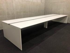 【フリアド】W4800サイズ(ホワイト天板)|オカムラ(okamura)|フリーウェイ|推奨:8名用~【倉庫在庫品】