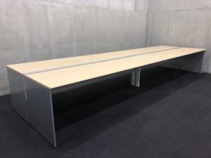 【フリアド】W4800サイズ(ナチュラル天板)|コクヨ(kokuyo)|ワークヴィスタ|推奨:8名用~【A】【倉庫在庫品】