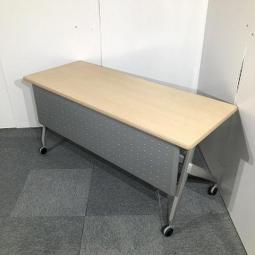 ウチダ製 ナチュラル天板 キャスター付き W1500 サイドスタックテーブル入荷!!【関西倉庫在庫】