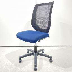 【軽快に、オフィスを彩る】イトーキ コルト ブルー 背面:ブラック 肘無 ハイバック オフィス リモートワーク 在宅