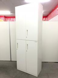 【少ないスペースで書類の保管!】コクヨ製 エディア 書庫セット【施錠をしたい事業者様にお勧め!】【ホワイト】