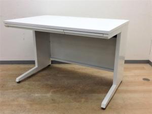 【ちょうどいいサイズ】オカムラ アドバンス W1100 ホワイト 平机 収納 オフィス PCデスク