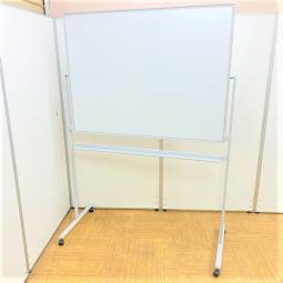 【1台入荷】足つきホワイトボードがリユース品でこの価格!両面自立式