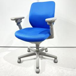 【柔らかくフィット】コクヨ セディスタ ブルー 肘付 ローバック オフィス リモートワーク 在宅