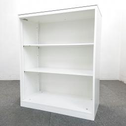 【2台】人気のホワイトオープン書庫入荷!コンパクトなサイズなので、ちょっとしたスペースに! 中古 書庫 ホワイト オカムラ キャビネット オフィス