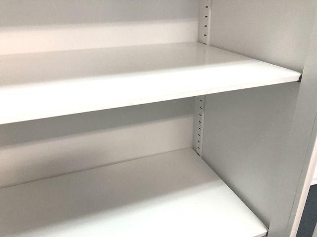 【両開き書庫】【ホワイト】【コクヨ】【エディア】【ローキャビネット】【単体書庫】                         エディア                                     中古