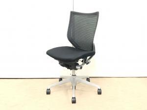 【オフィスワーク快適チェア!】◆オカムラ製 バロンチェア(Baron) ブラック ホワイトボディ【倉庫在庫】