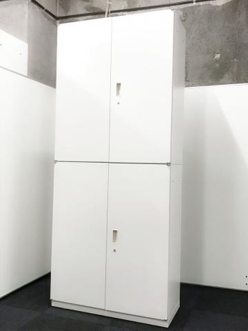 【清潔感あるホワイトの書庫!】イトーキ/シンライン/ホワイト/両+両                         シンライン                                     中古
