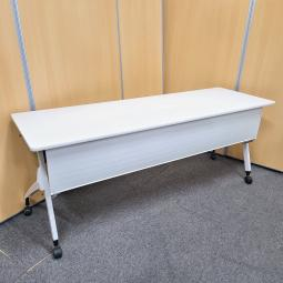 サイドスタックテーブル ホワイト W1800 D600