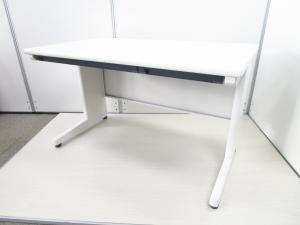 [幅1200㎜タイプ]ホワイト 事務机 オフィスデスク