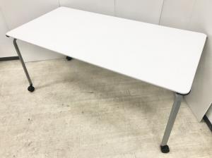 2~4名様に最適なミーティングテーブル!キャスター付きで移動も簡単!ホワイト/コクヨ/ビエナシリーズ