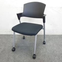 【在庫7脚】コクヨ プロッティ スタッキングチェア ブラック【椅子を重ねて収納】【コンパクト収納】【京都・滋賀】