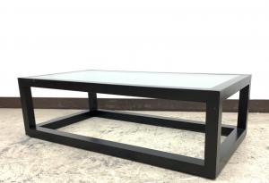 【幅1100㎜】【状態要考慮】まだまだ使えます!ガラス天板応接テーブル◆その他メーカー製