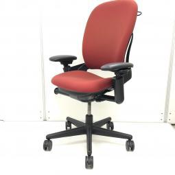 【高級チェア】【Leap chair】  カラー レッド 珍しい逸品【オフィス椅子】