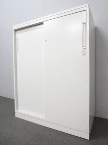 【状態良好品!】コクヨ(KOKUYO)エディアシリーズ 引戸書庫 ■色:ホワイト