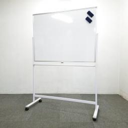 オフィス必須アイテム入荷!新品 ホワイトボード W1200 脚付き 片面 無地