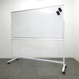オフィス必須アイテム入荷!新品 ホワイトボード W1800 脚付き 片面 無地
