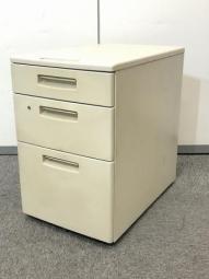 【ビンテージ感のある色でオフィスをおしゃれに!】コクヨ BS 3段ワゴン ニューグレー 収納 デスク 脇机