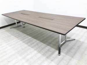 【最高級テーブル入荷!】 4~6名様向け!  幅360cmで広々使えます!  ジグザグに座って感染防止!  フリーアドレス化にもオフィスにも!