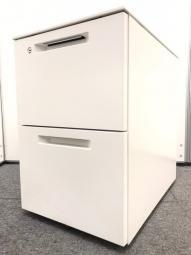 【コクヨ人気シリーズ!】コクヨ 2段ワゴン ホワイト 鍵付き オフィス 収納 書類【在庫入替】