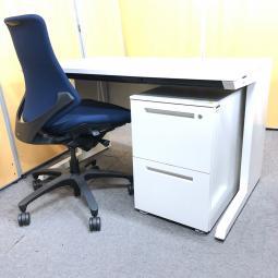 【ロット入荷!】イトーキ製のセットがロットで入荷!片袖机として使用可能! ホワイト 中古 オフィス 家具
