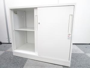 【H770のコンパクト】コクヨ/エディア/ホワイト【2枚スライド扉】