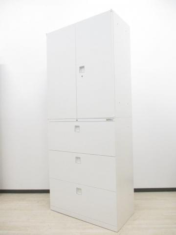 【定番人気商品2台入荷!】■大容量収納!!両開き+3段ラテラルで6段収納可能です。■オカムラ製・レクトライン (Rectline)