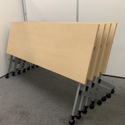 【2019年製】1800mm幅の状態良好収納テーブルが4台セットでご案内!内田洋行|プラッテ|幕板なし|ナチュラル|サイドスタック|1800mm