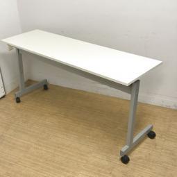 ノーブランド品につきお安く W1500 D450 コンパクトサイズのスタックテーブル 網棚付き・幕板無し