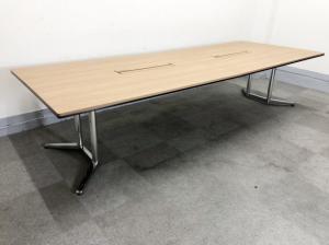 【幅3200mm:8~10名用にお勧め!】オカムラ製 ラティオⅡ 大型テーブル【新品定価約40万超え!】【2枚天板】