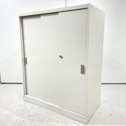 【3段入荷!】オカムラ 42型 ニューグレー 引き違い書庫 ローキャビネット 収納 即納可能※大阪市内に限り