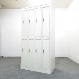 【2台入荷】【鍵付き】みんな仲良く8人用ロッカーまっしろホワイト新古品蓮田入店◆生興製