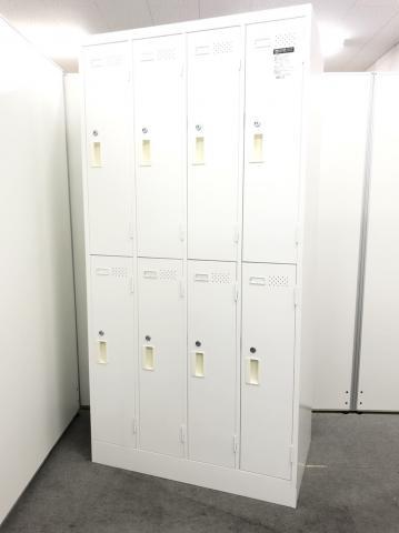 ホワイトカラーの8人用ロッカーが入荷!!珍しいホワイトカラー!!【コクヨのLKシリーズ】