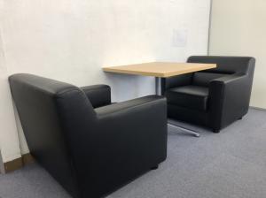 【軽応接セット】2名用|ソファ2台+カフェテーブル|状態良好|尼崎店特別価格