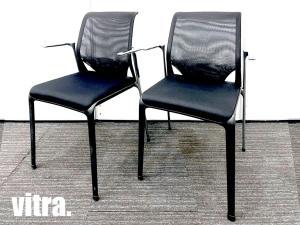 vitra/ヴィトラ MEDA Slim/メダスリム ミーティングチェア2脚セット メッシュ hhstyle
