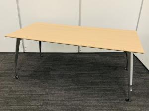 【高級感+クールなデザイン!】大型デスク・打ち合わせテーブルとしても!