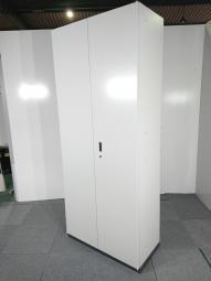 両開き書庫|クロガネ(KUROGANE)|色:ニューグレー|H2150mm|6段収納可能【倉庫在庫商品】