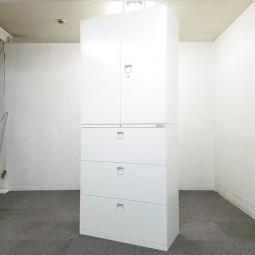 【10台入荷】清潔感のあるオカムラのホワイト書庫が入荷しました!中古 ホワイト 書庫 キャビネット オフィス家具 事務用品 棚 ロッカー