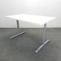 【このデザインが使いやすい!】■オカムラ製 ミーティングテーブル 幅1200mm ホワイト【倉庫在庫】KRC