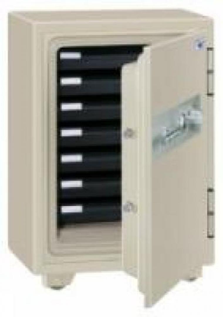 エーコー製 家庭用耐火金庫 SD-7N  内寸 幅325 × 奥行335 × 高さ470mm ダイヤル+シリンダー錠の厳重保管物用です
